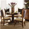 Tommy Bahama Home Island Estate 5 Piece Dining Cayman Table & Mangrove Side Chairs Set - Hutch Shown in Image is No Longer Available by the Manufacturer