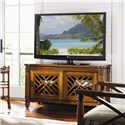 Tommy Bahama Home Island Estate Grand Bank Media Console with Sliding Doors