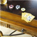 Tommy Bahama Home Island Estate Samba Game Table with Felt Lined Drawers - Woven Front on Storage Drawers