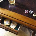 Tommy Bahama Home Island Estate Samba Game Table with Felt Lined Drawers - 4 Felt-lined Drawers