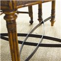 Tommy Bahama Home Island Estate Samba Game Table with Felt Lined Drawers - Decorative Metal Stretcher
