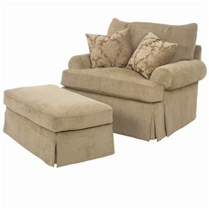 Lexington Lexington Upholstery Edwards Chair and Ottoman