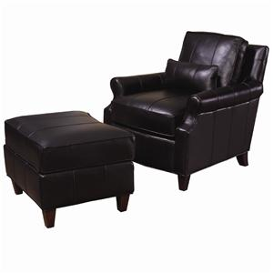 Lexington Lexington Leather Rosalind Chair and Ottoman