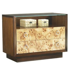 Lexington Mirage Bergman Glass Top Nightstand