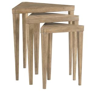 Lexington Monterey Sands Cupertino Triangular Nesting Tables