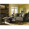 Lexington Personal Design Series Customizable Overland Sofa with English Arms and Kick Pleat Skirt  - Shown in Room Setting