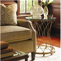 Lexington St. Tropez Cabris Accent Table with Glass Top - Shown with Signac Sofa