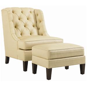 Lexington St. Tropez Belrose Tufted Back Chair and Ottoman