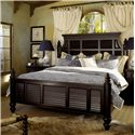 Tommy Bahama Home Kingstown King Malabar Panel Bed - Item Number: 01-0619-134C