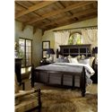 Tommy Bahama Home Kingstown King-Size Malabar Panel Bed with Shutter Headboard & Footboard - Bed Shown May Not Represent Size Indicated