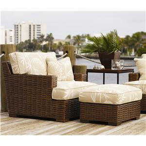 Tommy Bahama Home Ocean Club Salina Chair & Ottoman
