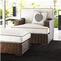 Tommy Bahama Home Ocean Club Woven Split Rattan Salina Chair & Ottoman