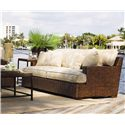 Tommy Bahama Home Ocean Club Woven Split Rattan Salina Sofa - Shown with Ocean Reef Cocktail Table