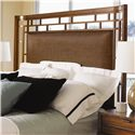 Tommy Bahama Home Ocean Club California King-Size Paradise Point Bed with Wood Framed Woven Rattan Panel - Woven Rattan Panel Headboard