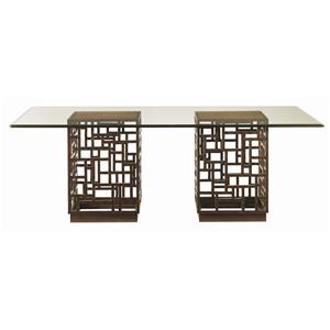 Tommy Bahama Home Ocean Club South Sea Rectangular Glass Top Table