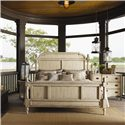 Lexington Twilight Bay King-Size Hathaway Panel Bed - Shown with Wayside Dresser and Bailey Chairside Table