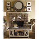 Lexington Twilight Bay Juliette Mirror - Shown with Wyatt Cocktail Table and Abbey Chair