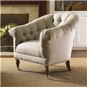Lexington Twilight Bay Mallory Chair - Custom Upholster this Chair in a Wide Variety of Fabrics, From Natural Washed Linen or Merino Wool, to Tone-On-Tone Crewel or Vintage Document Design