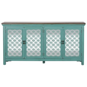 Transitional Accent Chest with 4 Doors