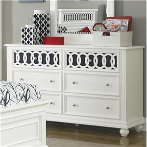 Vendor 5349 Kaleidoscope 6 Drawer Dresser
