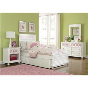 Vendor 5349 Kaleidoscope Full Panel Bed, Dresser & Mirror