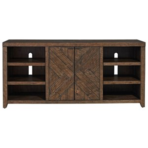 Contemporary TV Stand with Adjustable Shelves
