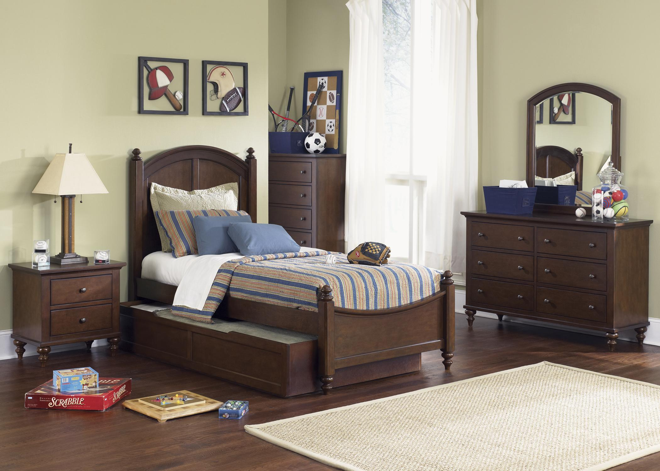 Twin Trundle Bed. Twin Panel Bed with Trundle by Liberty Furniture   Wolf and