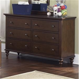 Vendor 5349 Abbott Ridge Youth Bedroom 6 Drawer Dresser