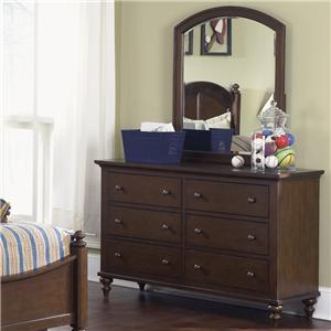 Vendor 5349 Abbott Ridge Youth Bedroom Dresser & Mirror