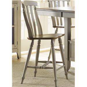 Liberty Furniture Al Fresco Slat Back Counter Height Chair