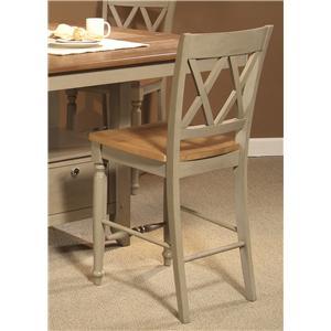 Liberty Furniture Al Fresco Double X-Back Counter Chair