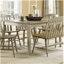 Liberty Furniture Al Fresco Rectangular Leg Table with Butterfly Leaf