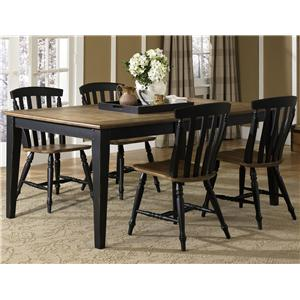 Liberty Furniture Al Fresco II 5 Piece Rectangular Table and Chairs Set