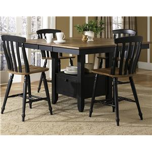 Liberty Furniture Al Fresco II 5 Piece Gathering Table and Chairs Set