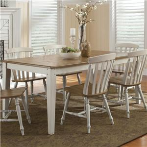 Rectangular Leg Table with Butterfly Leaf