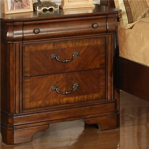 Traditional Night Stand With Drawers