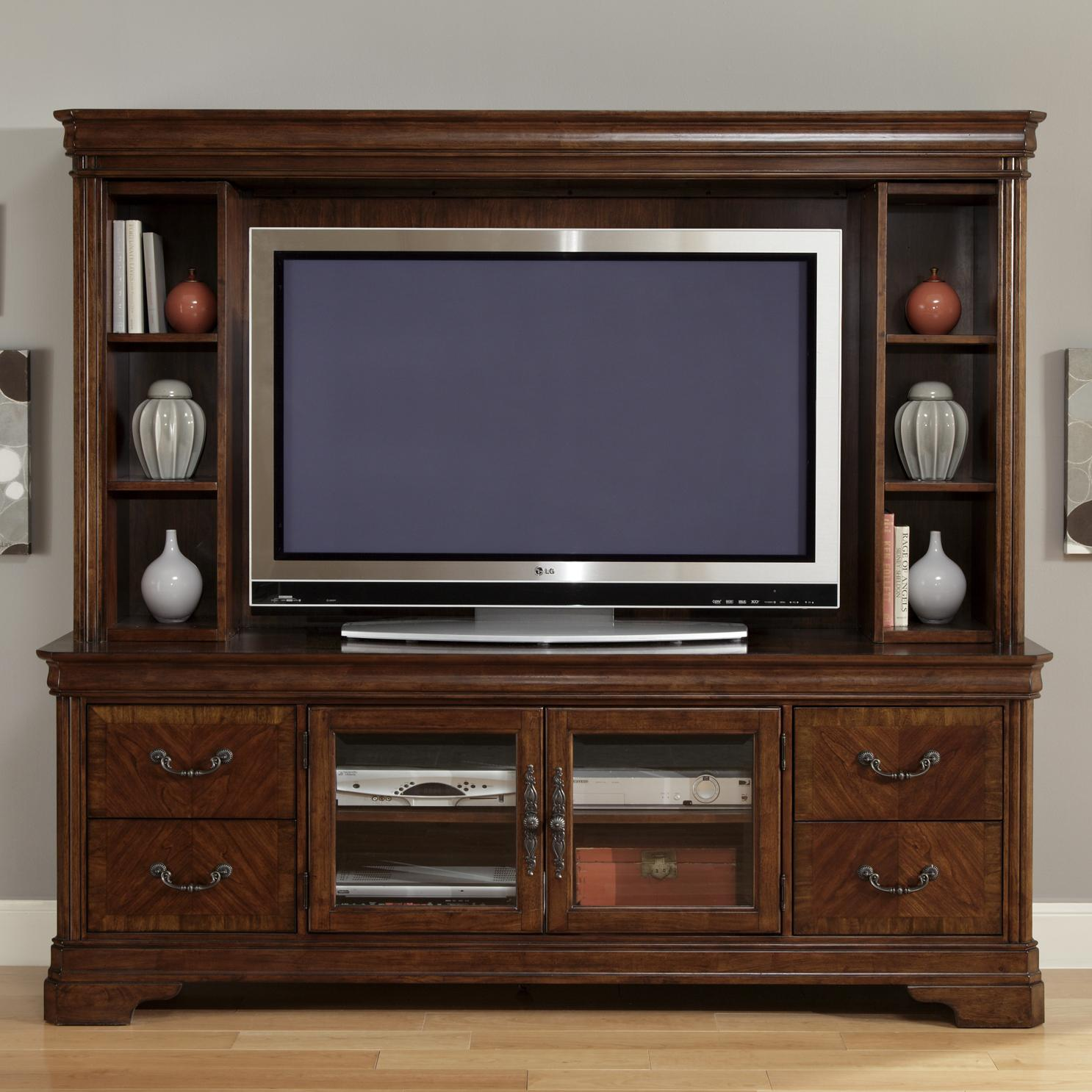 Door entertainment tv stand with drawers by liberty