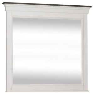 Cottage Crown Mirror with Crown Molding