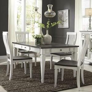 Transitional 5 Piece Rectangular Table Set