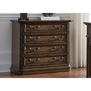 Traditional Lateral File with Fully Stained Interior Drawers