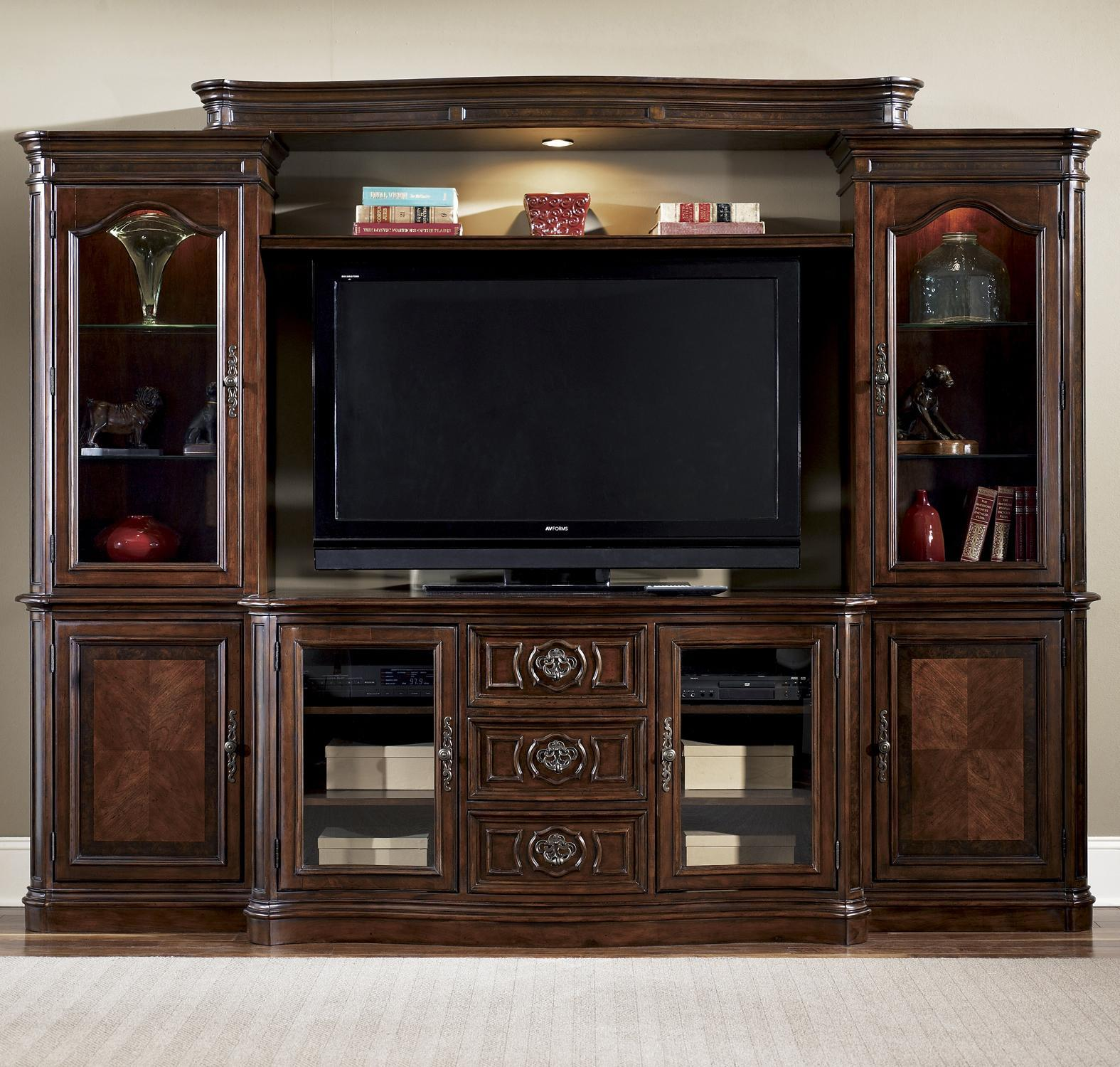 Tv Entertainment Stand 2 Door 3 Drawer Tv Entertainment Console By Liberty Furniture