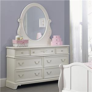 Vendor 5349 Arielle Youth Bedroom Dresser & Mirror