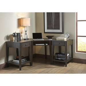 Home Office L Shape Desk with Wire Managment