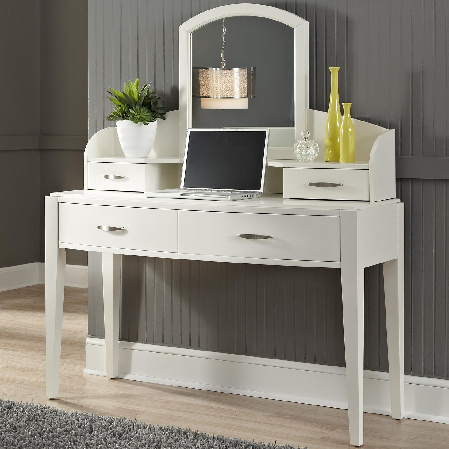Vanity With 4 Drawers And Mirror By Liberty Furniture Wolf And Gardiner Wolf Furniture