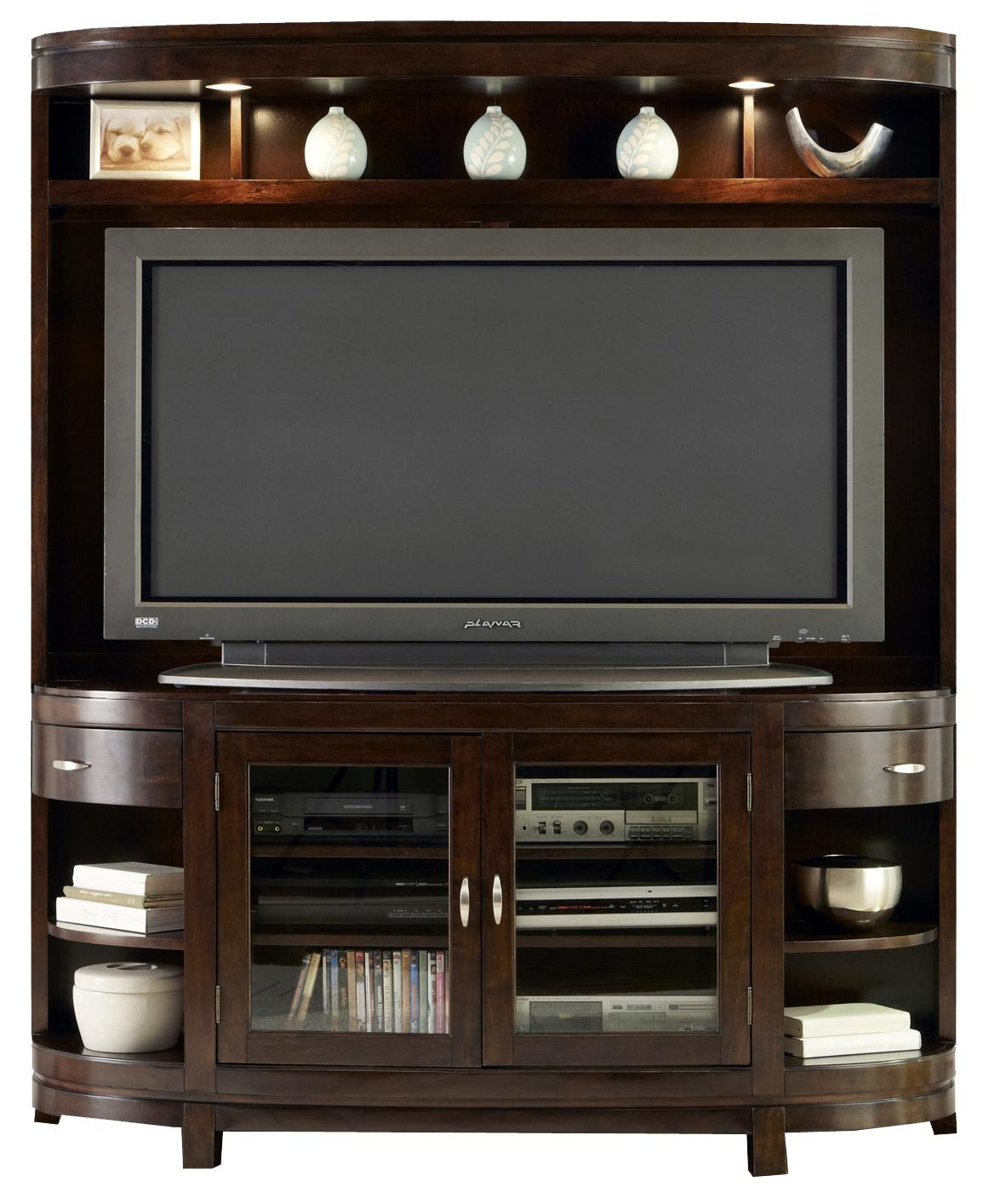 Two-Door Entertainment TV Stand with Drawers and Shelves by ...