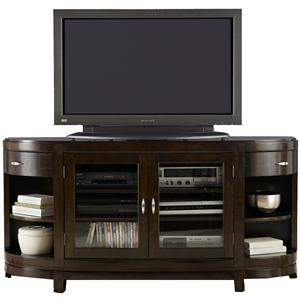 Two-Door Entertainment TV Stand with Drawers and Shelves (hutch not included)