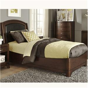 Vendor 5349 Avalon Twin Leather Bed