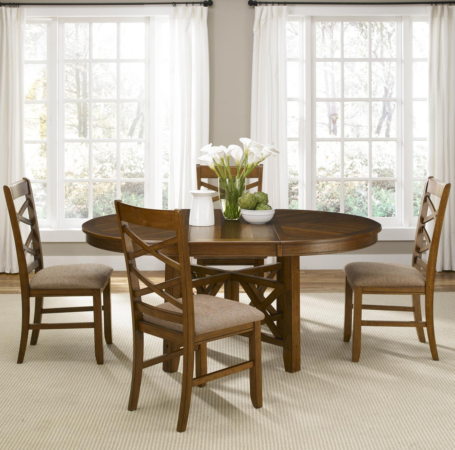 Five Piece Oval Table And Side Chair Dining Set By Liberty Furniture