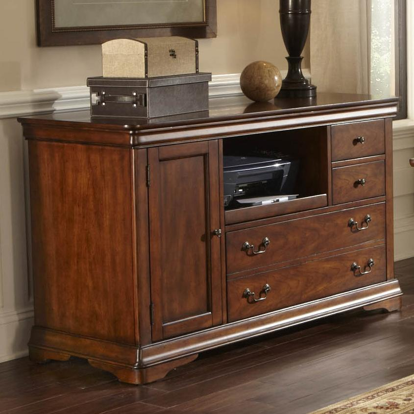 Credenza With File Drawer And Pull Out Printer Shelf By