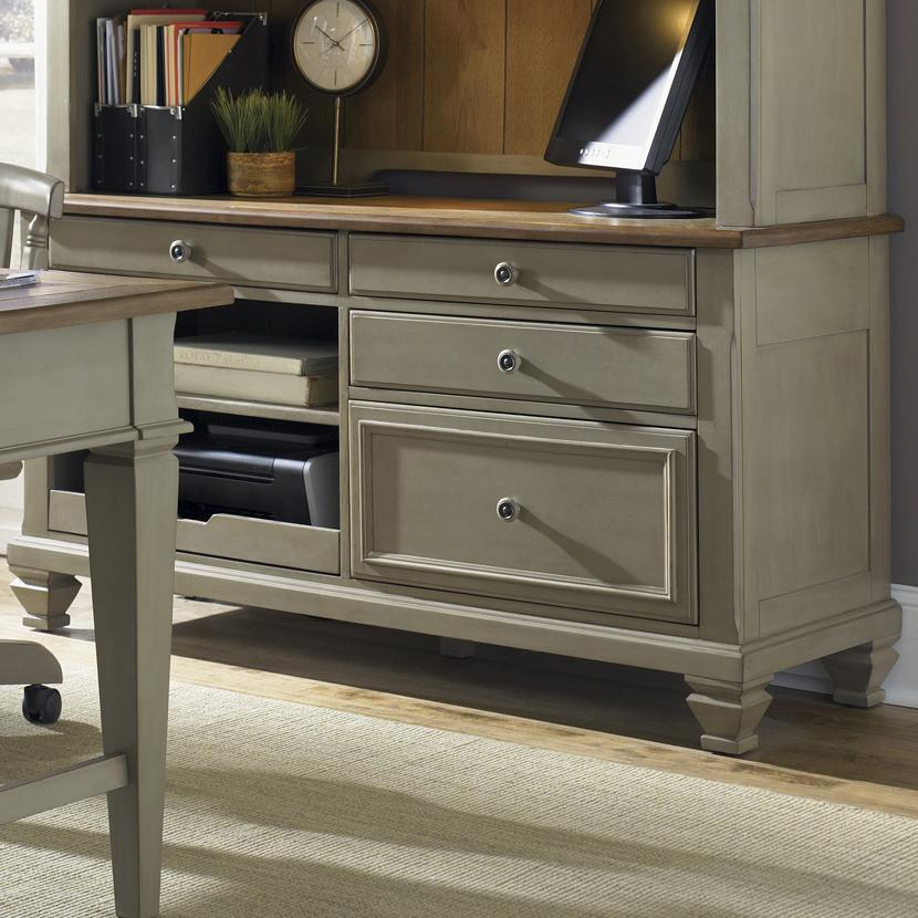 Jr Executive Credenza W Printer Tray By Liberty Furniture Wolf